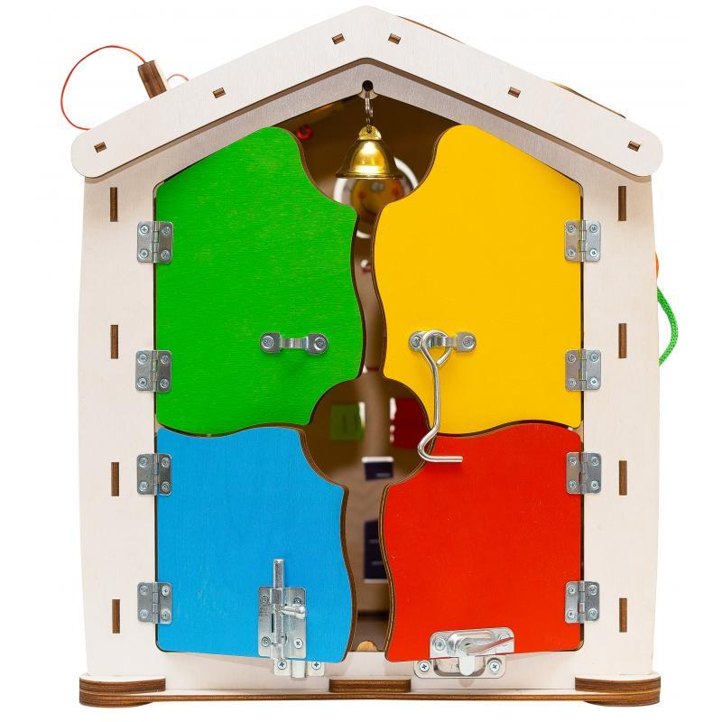 Бизиборд домик Знайка цирк 35X40 со светом фото