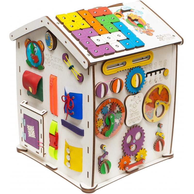 Бизиборд домик Знайка Семицвет Макси 40х50 со светом фото
