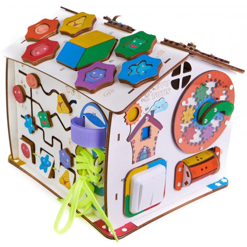 Бизиборд домик знайка Смайлики дома 25х25х29 со светом фото