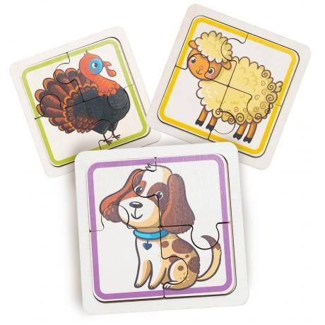 Набор пазлов для малышей - Домашние животные