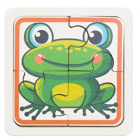 Двусторонний пазл для самых маленьких - Черепашка и Лягушка