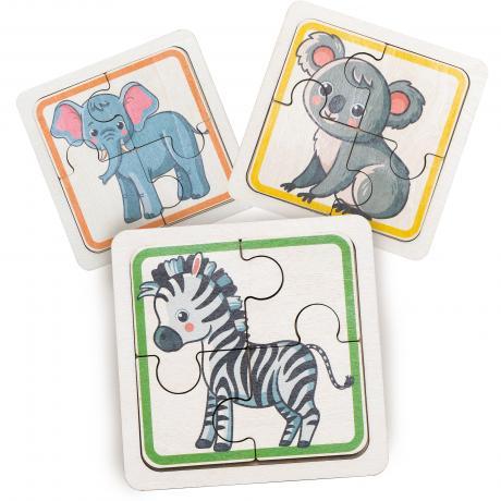 Набор пазлов для малышей - Животные Африки