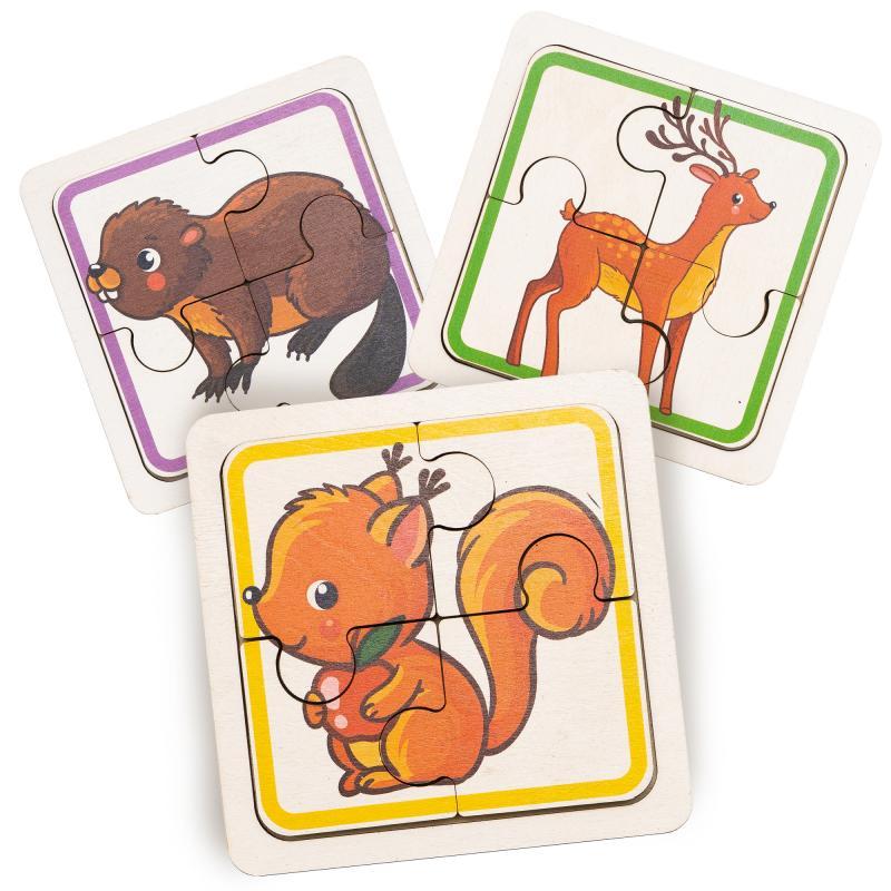 Набор пазлов для малышей  - Лесные зверушки фото