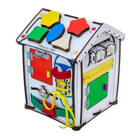 Домик развивающий мультицвет 24х24х30 со светом