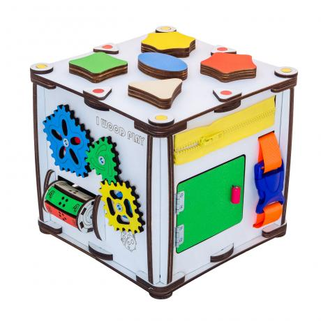 Кубик развивающий мультицвет 22х22х23 со светом
