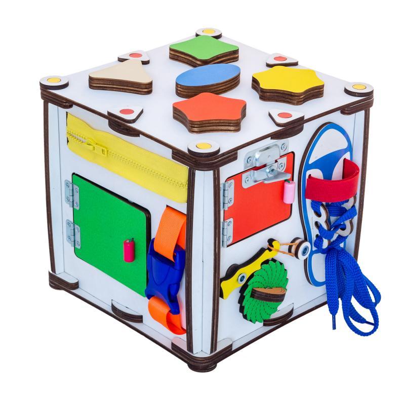 Кубик развивающий мультицвет 22х22х23 со светом фото