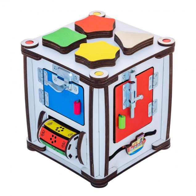 Кубик развивающий мультицвет 17х17х18 со светом
