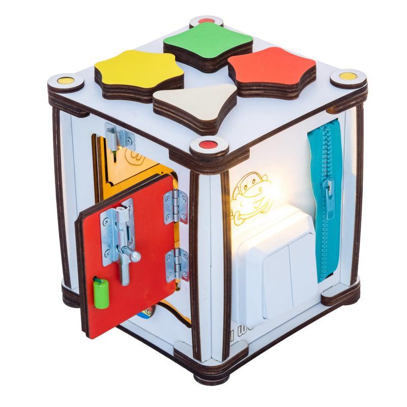 Кубик развивающий мультицвет 17х17х18 со светом фото
