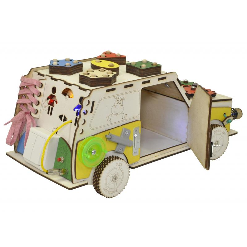 Бизи машинка Развивающая машинка с электрикой фото