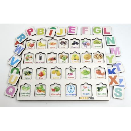 Рамка-вкладыш Изучаем буквы и английский алфавит