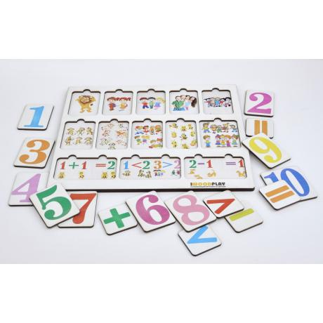 Рамка-вкладыш Изучаем цифры и решаем примеры