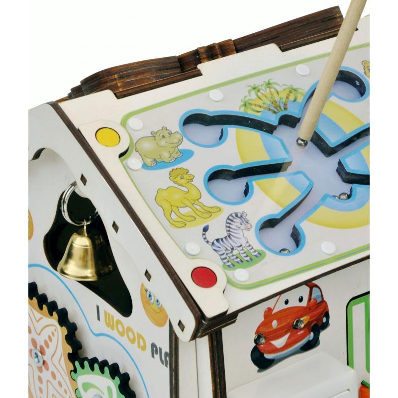 Домик развивающий 24х24х30 со светом, Зверушки фото
