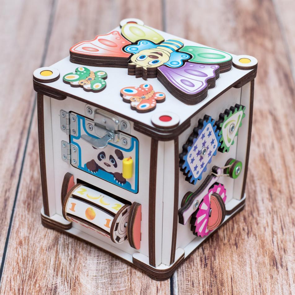 Куб развивающий 17х17х18 со светом, Зверушки