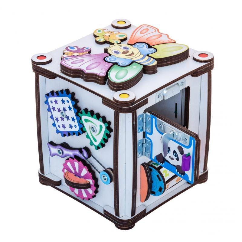 Куб развивающий 17х17х18 со светом, Зверушки фото