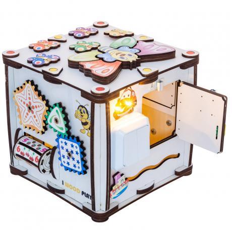 Куб развивающий 22х22х23 со светом, Зверушки