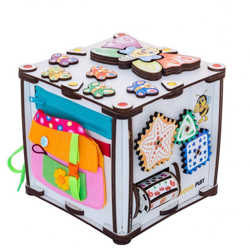 Куб развивающий 22х22х23 со светом, Зверушки фото
