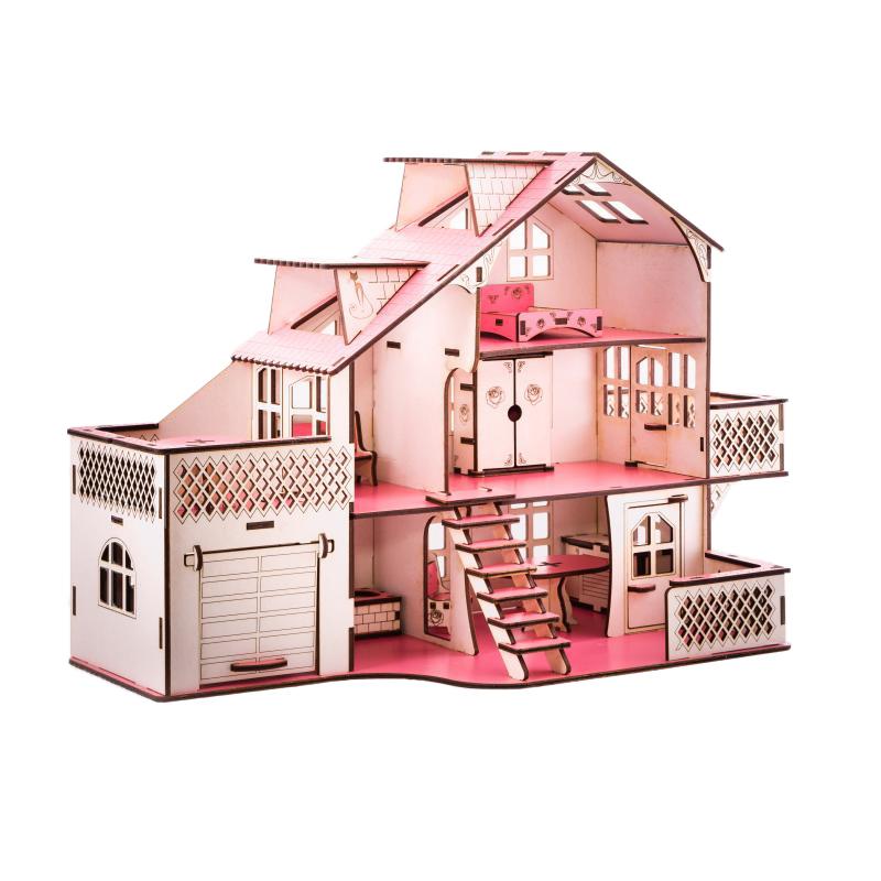 Кукольный домик с гаражем 27х52х35 см фото