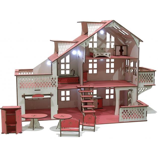 Кукольный домик со светом 35 x 85 х 58 см