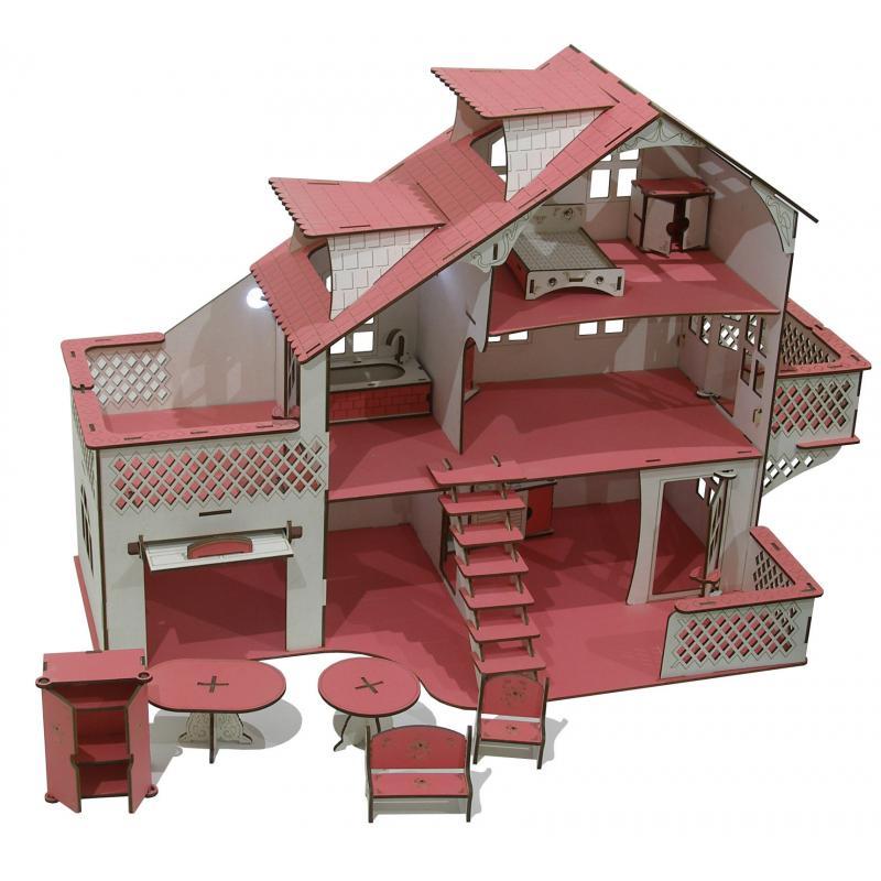 Кукольный домик со светом 35 x 85 х 58 см фото