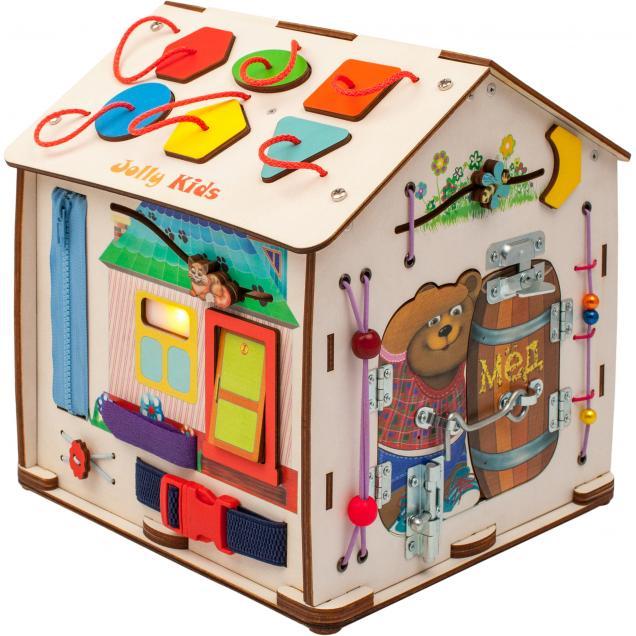 Бизиборд Дом мультик «Веселый Мишка» 26х29х26 см со светом