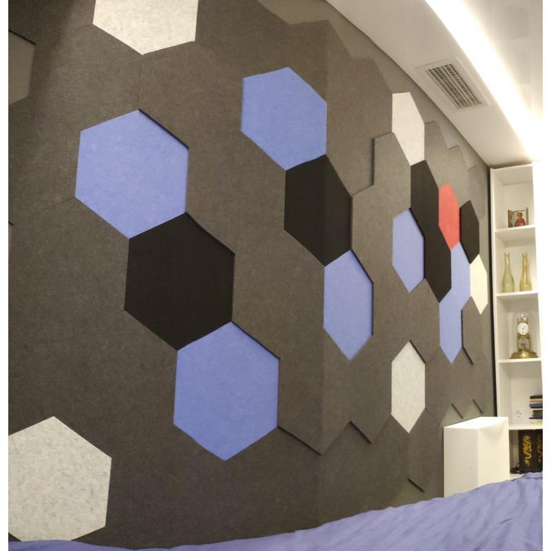 Мягкие Шумопоглащающие панели для стен MyMatto - Сота горчичный фото
