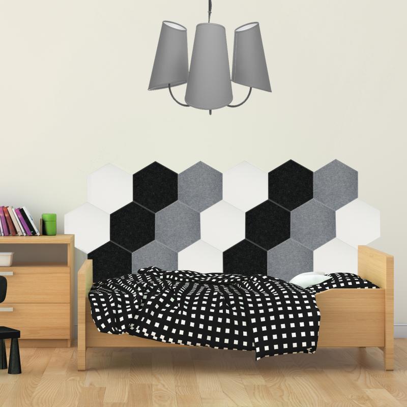 Мягкие, Гипоаллергенные панели на стену MyMatto - Сота черный фото