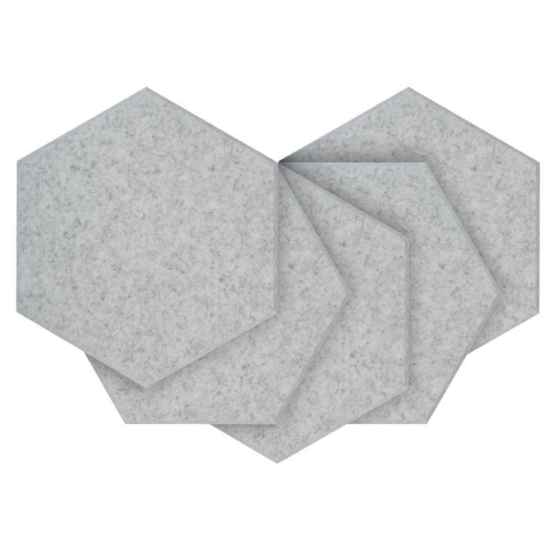 Шумопоглащающие панели для стен MyMatto - Сота серый мраморный фото