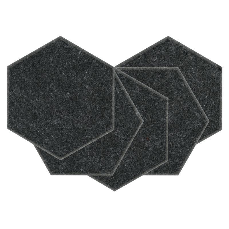 Теплые настенные панели из ЭКО-войлока MyMatto  - Сота мокрый асфальт фото