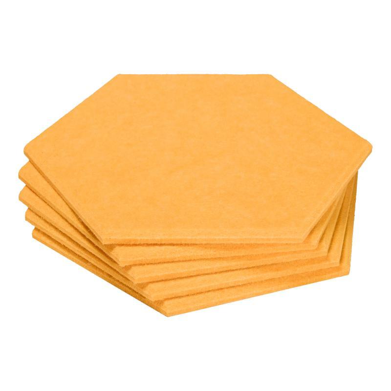 Декоративные настенные панели из ЭКО-войлока MyMatto - Сота желтый фото
