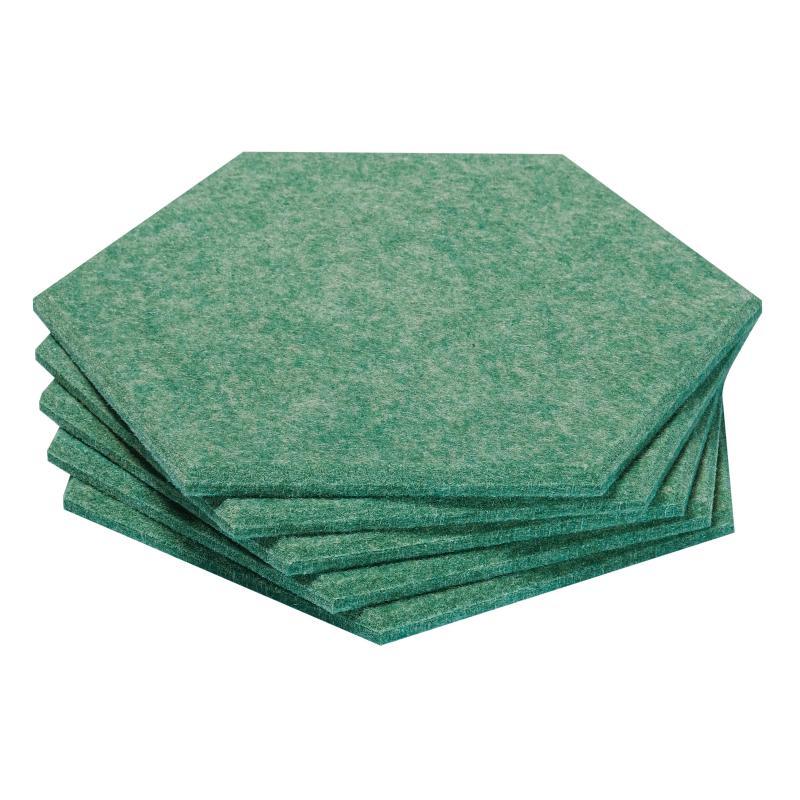 Мягкие настенные панели для детской комнаты MyMatto - Сота зеленый мраморный фото