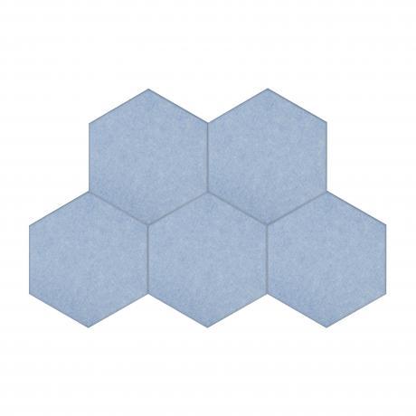 Шумопоглащающие панели для детской комнаты MyMatto - Сота голубой