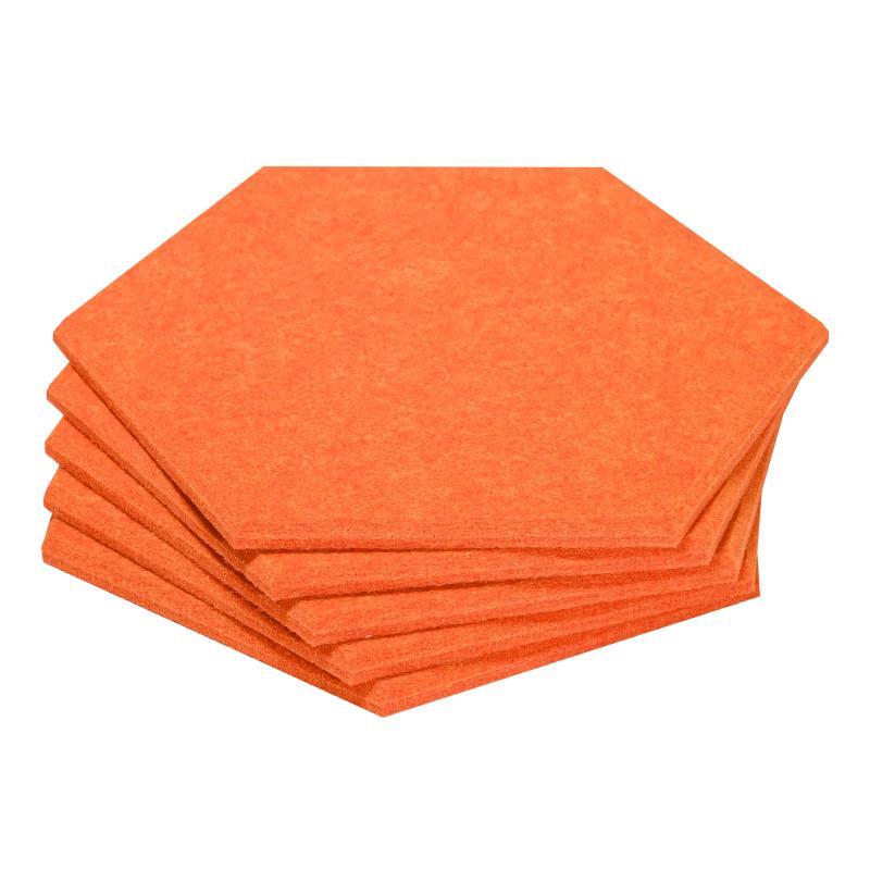 Гипоаллергенные панели из ЭКО-войлока на стену MyMatto - Сота оранжевый фото