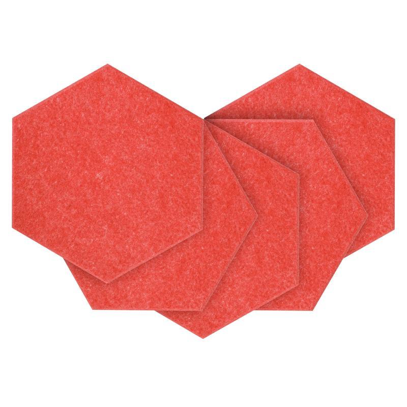 Панели для стен из ЭКО-войлока MyMatto - Сота красный фото