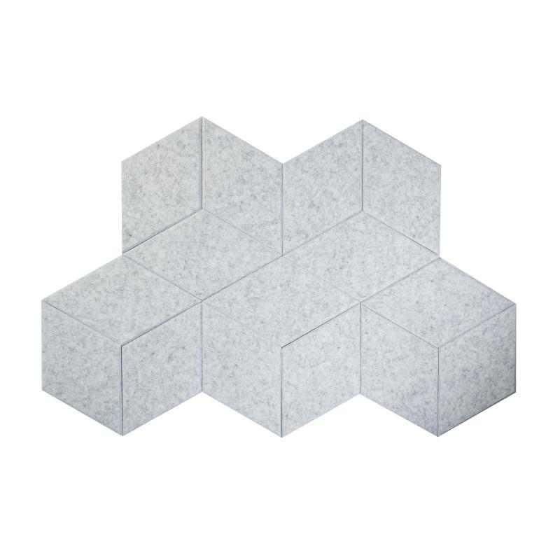 Шумопоглащающие панели для стен MyMatto - Ромб серый мраморный фото