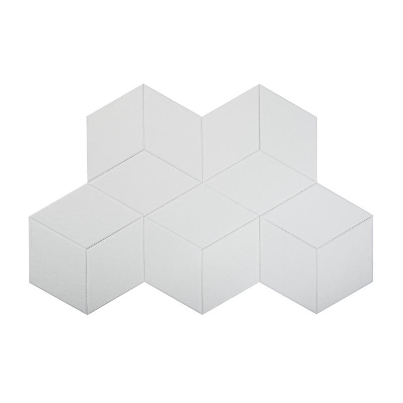 Шумопоглащающие панели для стен MyMatto - Ромб белый фото
