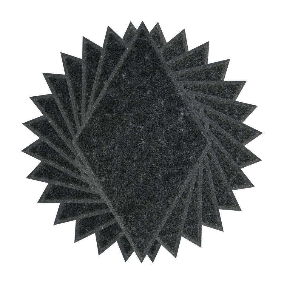 Теплые настенные панели из ЭКО-войлока MyMatto - Ромб мокрый асфальт