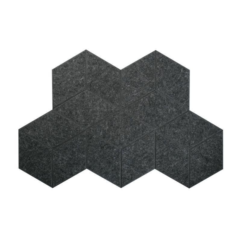 Теплые настенные панели из ЭКО-войлока MyMatto - Ромб мокрый асфальт фото