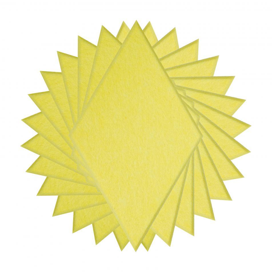 Гипоаллергенные панели из ЭКО-войлока на стену MyMatto - Ромб лимон