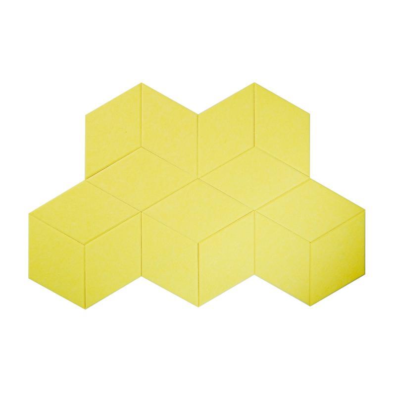 Гипоаллергенные панели из ЭКО-войлока на стену MyMatto - Ромб лимон фото