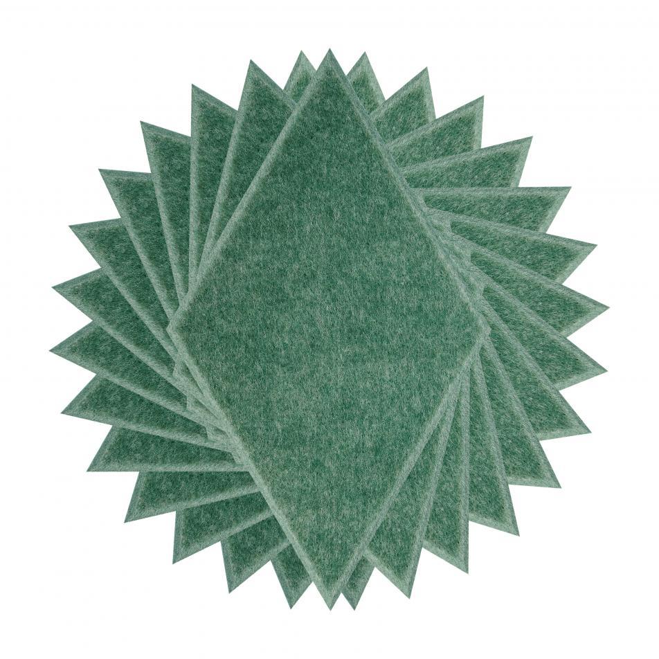 Мягкие настенные панели для детской комнаты MyMatto - Ромб зеленый мраморный