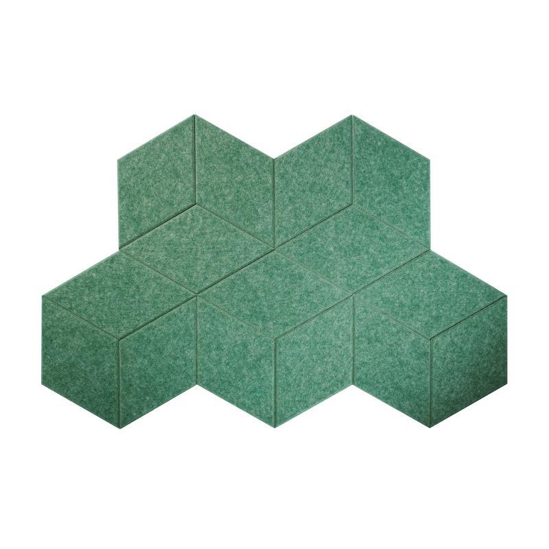 Мягкие настенные панели для детской комнаты MyMatto - Ромб зеленый мраморный фото