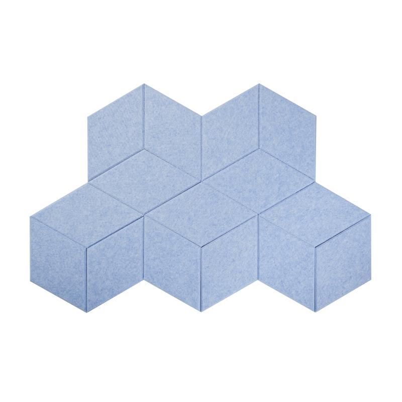 Шумопоглащающие панели для детской комнаты MyMatto - Ромб голубой фото