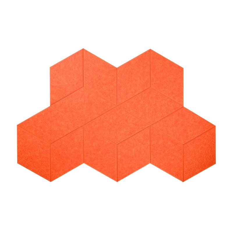 Гипоаллергенные панели из ЭКО-войлока на стену MyMatto - Ромб оранжевый фото