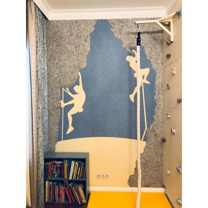 Теплые настенные панели из ЭКО-войлока MyMatto - Квадрат шампань фото