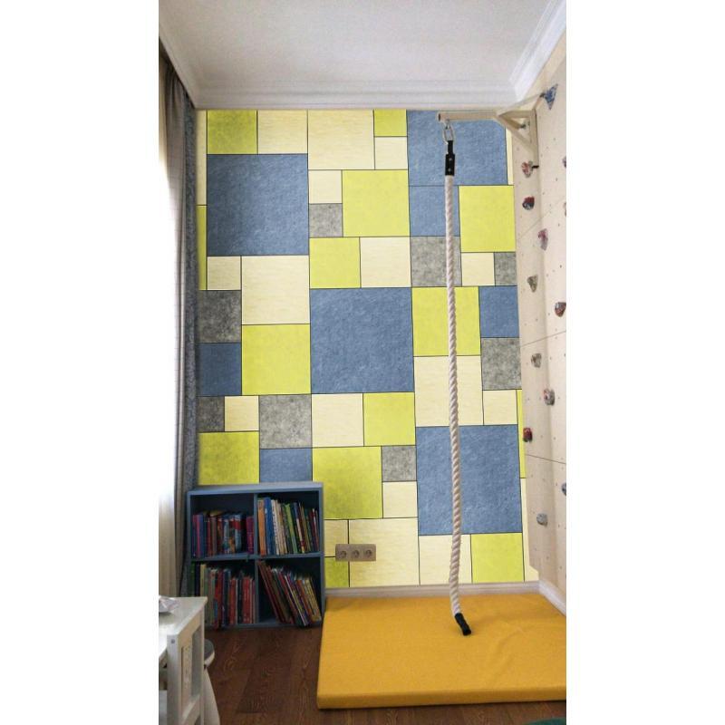 Шумопоглащающие панели для детской комнаты MyMatto - Квадрат синий фото