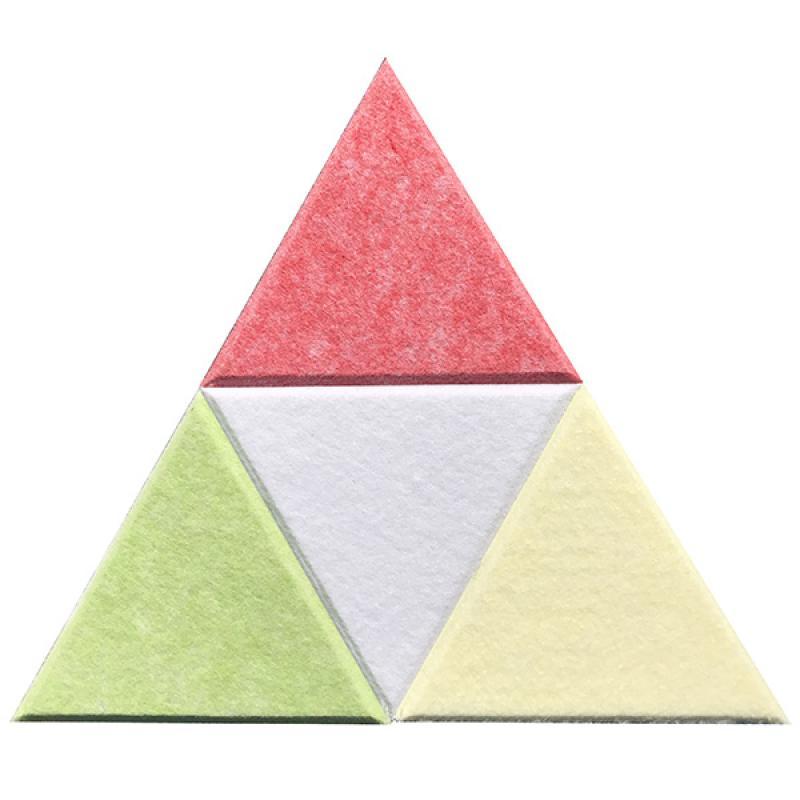 Мягкие настенные панели для детской комнаты MyMatto - Треугольник салатовый фото