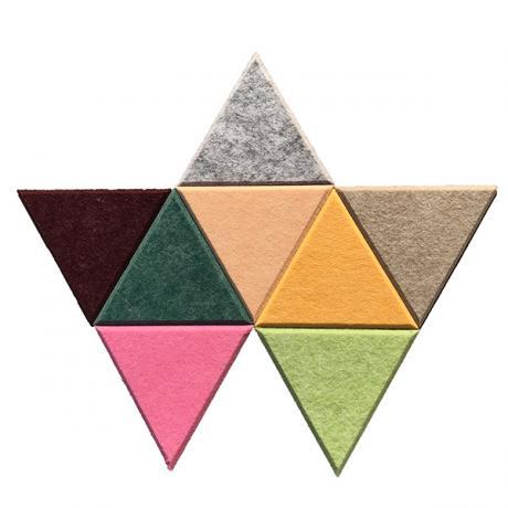 Настенные панели из ЭКО-войлока MyMatto - Треугольник кремовый