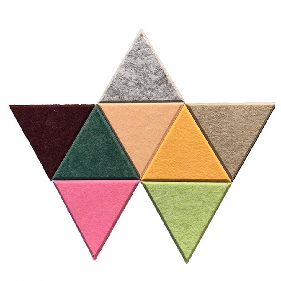 Мягкие Шумопоглащающие панели для стен MyMatto - Треугольник горчичный