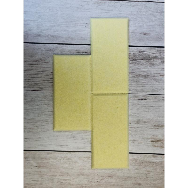 Декоративные настенные панели из ЭКО-войлока MyMatto - Кирпич желтый фото