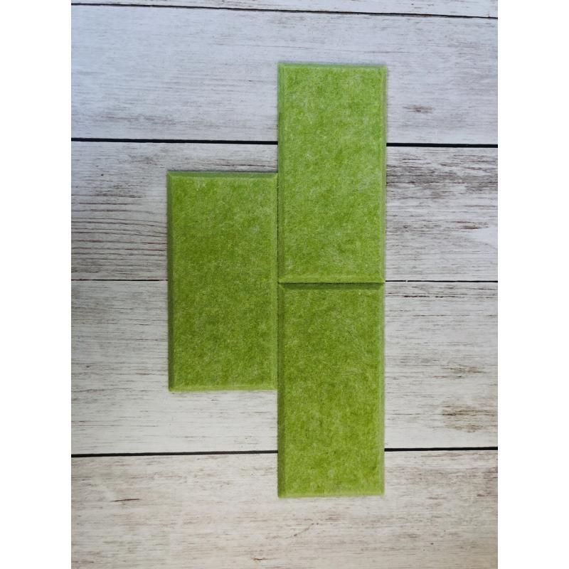 Мягкие настенные панели для детской комнаты MyMatto - Кирпич салатовый фото